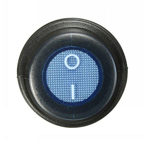 Ungfu Mall 1 PC 3-Pin SPST 12V 12A LED Ein / Aus-Schalter Beleuchtete Wasserdicht -