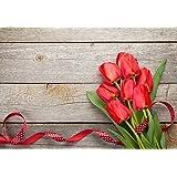 Alfombra de cocina, lavable en lavadora, alfombra cocina,52cm x 75cm, antiácaros, antideslizante, alfombra de cocina diseño tulipanes,100% made in Italy,alfombra de cocina diseño de impresión digital