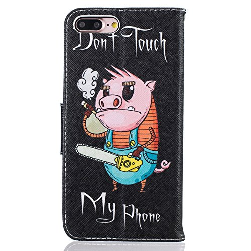 Cover iPhone 7 Plus in Pelle,iPhone 7 Plus Custodia Portafoglio,Felfy Elegante Farfalla Rose Fiori Painting Tinta Unita PU Leather Wallet Portafoglio Pelle Libro Stand Flip Custodia Cover per Apple iP Maiale