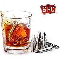 Uten Cubetti Ghiaccio Finto Riutilizzabili Raffreddamento per Vino Whisky Birra Cocktail Succo di Frutta Mojito Bevande in Acciaio Inox (proiettile)