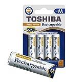 TOSHIBA AA Akku Batterien min.2250 mAh Garantiert, Ready-to-Use Ni-MH, 1.2V 4er Pack, für telefon, 1500 Ladezyklen, geringe Selbstentladung, sofort einsatzbereit