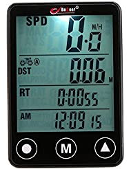 Lixada Multifunktionale Wireless Touch Button LCD Fahrrad Computer Tacho Tachometer