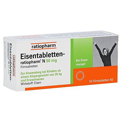 Eisentabletten Ratiopharm N 50 mg Tabletten, 50 St.