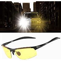 HD–Occhiali per la guida notturna pioggia giorno guida Sport Occhiali da sole polarizzati antiriflesso, Black