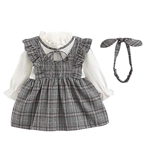 MERICAL Dressing Gown Baby Girl Dresses Toddler Kid Long Sleeve Stripe Bow  Party Princess Dress+ b3c4a9e02