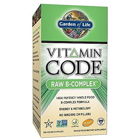 Garden of Life Vitamin B Complex - Vitamin Code Raw B Vitamin Whole Food Supplement, Vegan, 120