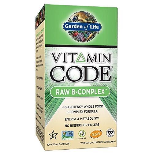 Garden of Life, Vitamin Code Raw B Komplex | hochdosiert vegan | alle acht B-Vitamine | Bioaktiv und Rohkost | B1, B2, B3, B5, B6, B12, D-Biotin & Folsäure | Premium | 120 Kapseln (2-Monatspackung) -