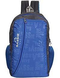 SASSIE Polyester 31Litres Blue School Backpack
