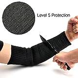 GOGO GO 1Paar schwarz 5geschnittene Ärmel 40cm Arm Guard Armband Protector Anti Abrieb Schutz Handschuhe Sicherheit für Garten Küche Farm Work