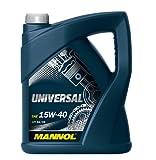 MANNOL 50025600500 Universal Motoröl 15W40 SG/CD, 5 L