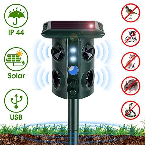 NearPow Repellente per Gatti, Repellente per Animali ad Ultrasuoni Energia Solare Impermeabile...
