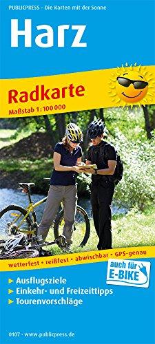 Harz: Radkarte mit Ausflugszielen, Einkehr- & Freizeittipps, wetterfest, reissfest, abwischbar, GPS-genau. 1:100000 (Radkarte / RK)