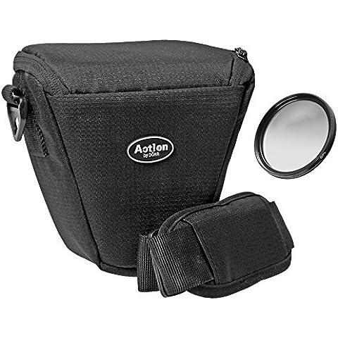 Cámara Bolsa Colt Juego Plus Polarizador Circular 58mm para Canon EOS 1300d 1200d 760d 750d 700d 100d con 18–55mm y Nikon SLR Sony Alpha, etc. Con entsprechedem diámetro del