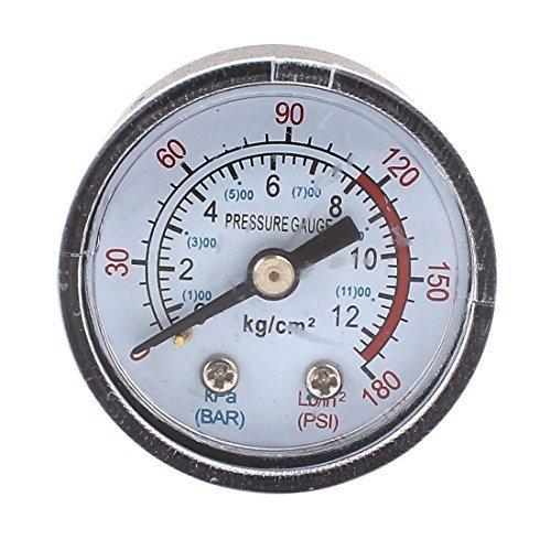 1 / 8PT Außengewinde, runde Zifferblatt 0-180PSI 0-12BAR Druckmesser, Typ:, Home & Garden Shop