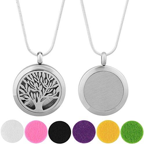 Eudora Harmony Ball, collana con medaglione per aromaterapia con olio essenziale, 6 tamponi, catena 61 cm, colore: Multicolor, cod. X01N25A00