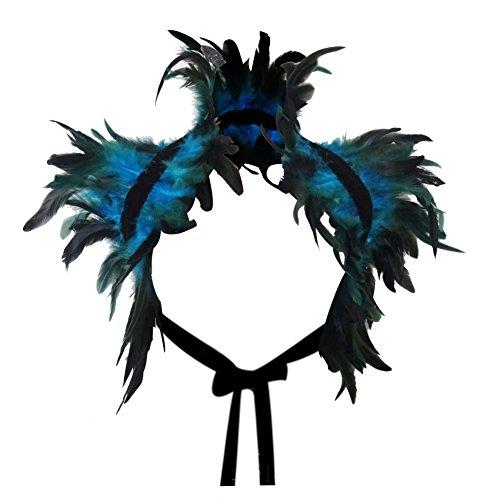 keland Victorian reale natürliche Feder Shrug Schal Schulterumhang Cape Gothic Kragen Halloween-Kostüm ()
