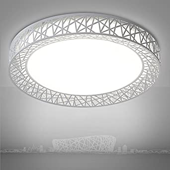 Wohnzimmer Deckenleuchte KAMELA Birds Nest LED Leuchte Lampe Saal Licht Studieren Die Runde Generation Ist Einfach Und Warm Weiss
