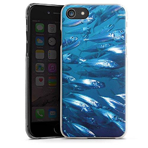Apple iPhone X Silikon Hülle Case Schutzhülle Fisch Fische Fischschwarm Hard Case transparent