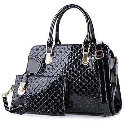 Coofit Leather Handbag Messenger Bag for Ladies + Small Bag+Bear Key Chain+postcard