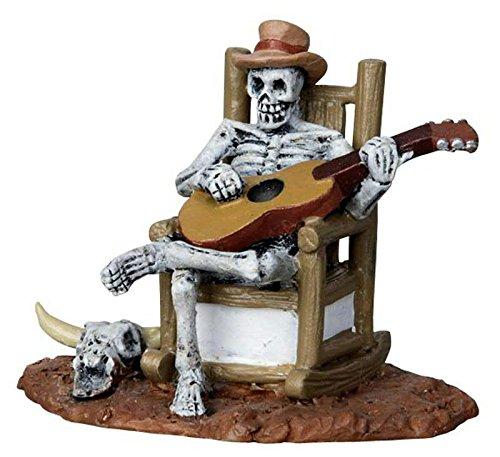 Lemax - Rocking Chair Skeleton - Untoter Gitarrist - Spooky Town - Polyresin - Figuren & Zubehör für Halloween