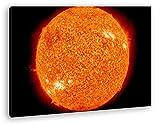Dark gewaltige Sonneneruption im Format: 120x80 als Leinwandbild, Motiv fertig gerahmt auf Echtholzrahmen, Hochwertiger Digitaldruck mit Rahmen, Kein Poster oder Plakat