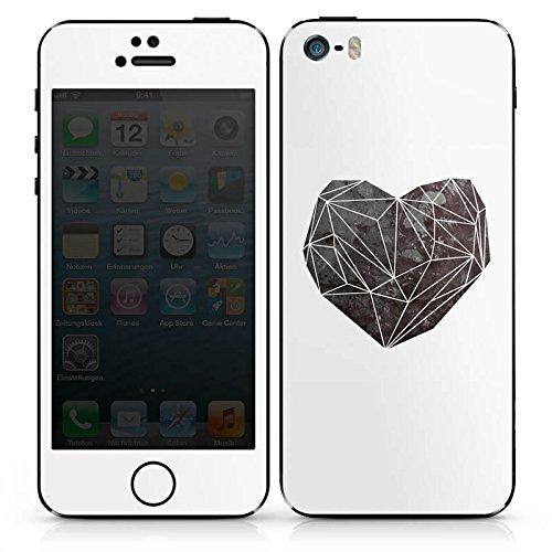 Apple iPhone SE Case Skin Sticker aus Vinyl-Folie Aufkleber Liebe Herz Love DesignSkins® glänzend