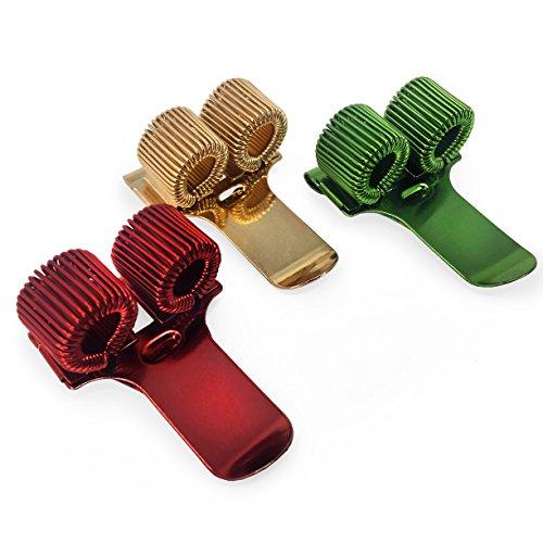 Doppel Metall Stifthalter mit Pocket Clip–Ideal für...