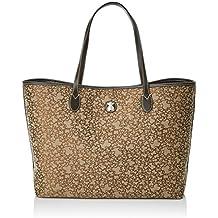 Tous Capazo Extra Grande Kaos Mini de Jacquard, Shopper para Mujer, Marrón (Brown), 13x29x20 cm (W x H x L)