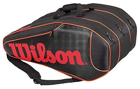 Wilson Erwachsene Sportsack Burn Team 12 PK BKOR, Schwarz/Orange, 76 x 35.5 x 33 cm, 89 Liter, 0887768343606