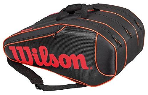 Wilson Burn Team 12 Pk Borsa, Nero/Arancione