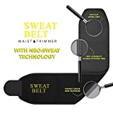 #2: WYVERN©Shapewears Sweat Waist Trimmer Fat Burner Belly Tummy Yoga Wrap Black Exercise Body Slim look Belt Free Size SWEAT BELT