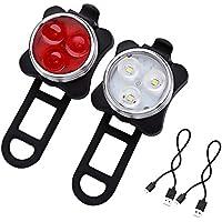 SET ricaricabile USB di luci a LED per bici X-96 di Xtreme Bright - Luce Anteriore / Luce Posteriore per Bici. La combinazione comprende Batteria Ricaricabile 650 mAh (cavo USB incluso) – La Luce Posteriore per Bici ha 4 Impostazioni - Aggiunta Perfetta ai Tuoi Accessori per il Ciclismo. - Bike Set Di Accessori