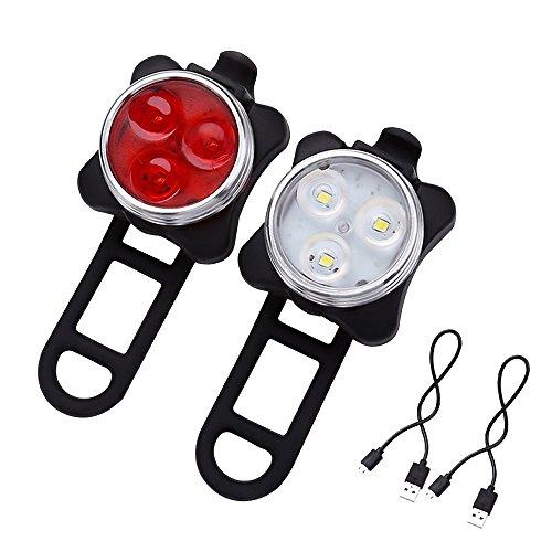 SET ricaricabile USB di luci a LED per bici X-96 di Xtreme Bright - Luce Anteriore / Luce Posteriore per Bici. La combinazione comprende Batteria Ricaricabile 650 mAh (cavo USB incluso) - La Luce Posteriore per Bici ha 4 Impostazioni - Aggiunta Perfetta ai Tuoi Accessori per il Ciclismo.