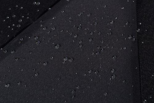 VON HEESEN Regenschirm Taschenschirm - sturmfest, windsicher & stabil - wasserabweisende Teflon-Beschichtung, Auf-Zu-Automatik, klein, leicht & kompakt inkl. Schirm-Tasche & Reise-Etui (Schwarz)