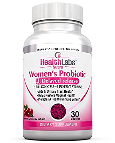 Health Labs Nutra Probiotics for Women with Cranberry & D-Mannose - Promotes Optimal Vaginal, Urinary and Digestive Health (30