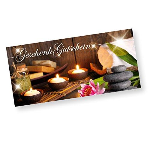 Geschenkgutscheine Wellness Massage mit Briefumschläge