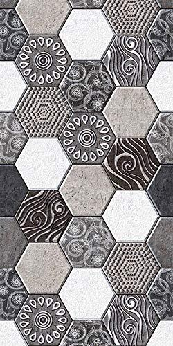Arredo carpet passatoia tappeto digitale in vinile con fantasia runner grigia
