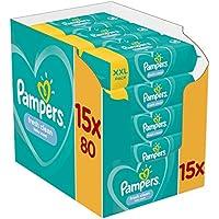 Lingettes Bébé - Pampers Fresh Clean - Lot de 15 Paquets de 80 (1200 Lingettes)