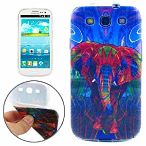 Coque Samsung Galaxy S2 Silicone Fantastic Colorful Elephant Pattern TPU Protective Case