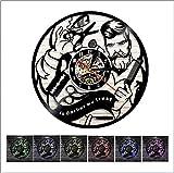 Haisen Van Horloge Vinyle Mur Horloge Professionnel Coiffeur Coiffeur décoration Artisanale Coiffure beauté,Black,12INCH