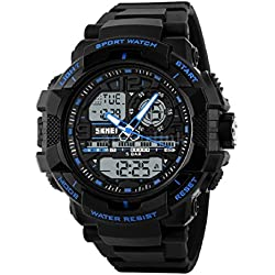 SKMEI 1164 LED And Pointer Display 50M Waterproof Sports Watch