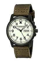 Stuhrling Original Herren-Armbanduhr Aviator Analog Quarz 850.04