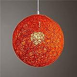 Eleganantamazing - Lámpara de Techo, diseño de Bola de Vid de ratán, diseño conciso y Redondo, 15 cm de diámetro