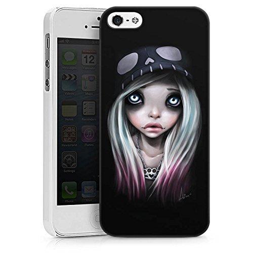 Apple iPhone X Silikon Hülle Case Schutzhülle Mädchen Kunst Art Hard Case weiß