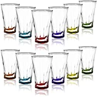 COM-FOUR® Juego de vasos de licor de 12 piezas, apto para lavavajillas