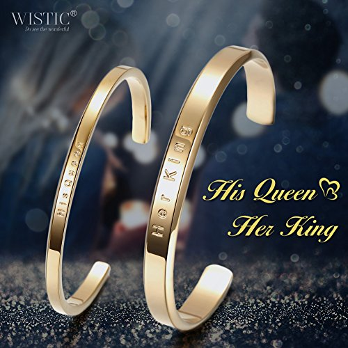"Parr Partner Armbänder aus Edelstahl mit Gravur ""His Only & Her One"" (Her king&His Queen)"