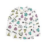 togel Babykleidung Kleinkind Kinder Baby Mädchen Jungen Langarm Streifen Cartoon Print T Shirt Tops Kleidung Blumen Langarm Niedlich Baumwolle Casual Ärmel Kleid Schwarz Weiß Hosen Striped Print
