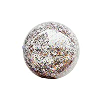 Asien 1Pc Beach Ball PVC Inflatable Pool Ball Toy Pool Party Ornament Glitter Floating Ball Photography Props