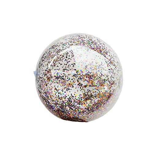 PVC-aufblasbare Pool-Ball-Spielzeug-Pool-Party Ornament Glitter Schwimmkugel Fotografie Props ()