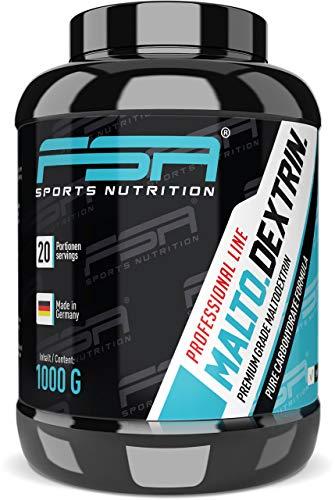 Maltodextrin Kohlenhydrate-Pulver der deutschen Profisport Marke FSA Nutrition® | Neutral | 1000g Dose